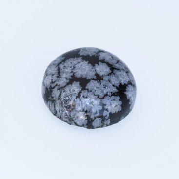 Cabochões de obsidiana floco de neve