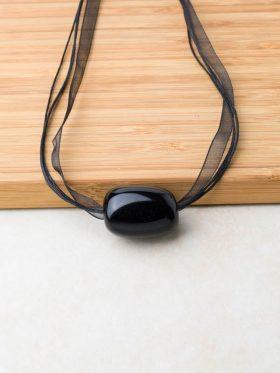 Colar Caramelo Obsidiana Negra