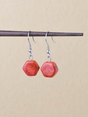 brincos zen coral maçã